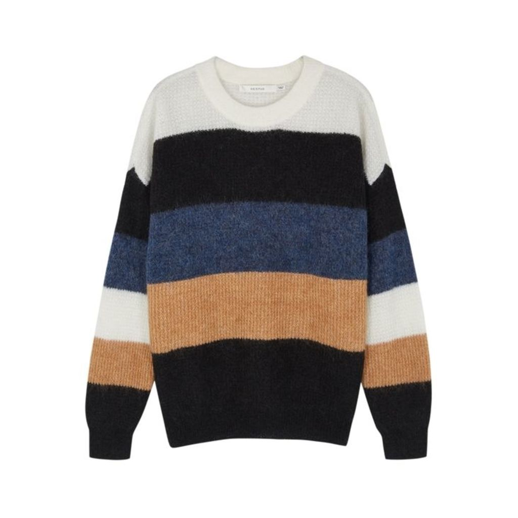 Gestuz Debbie Striped Mohair-blend Jumper