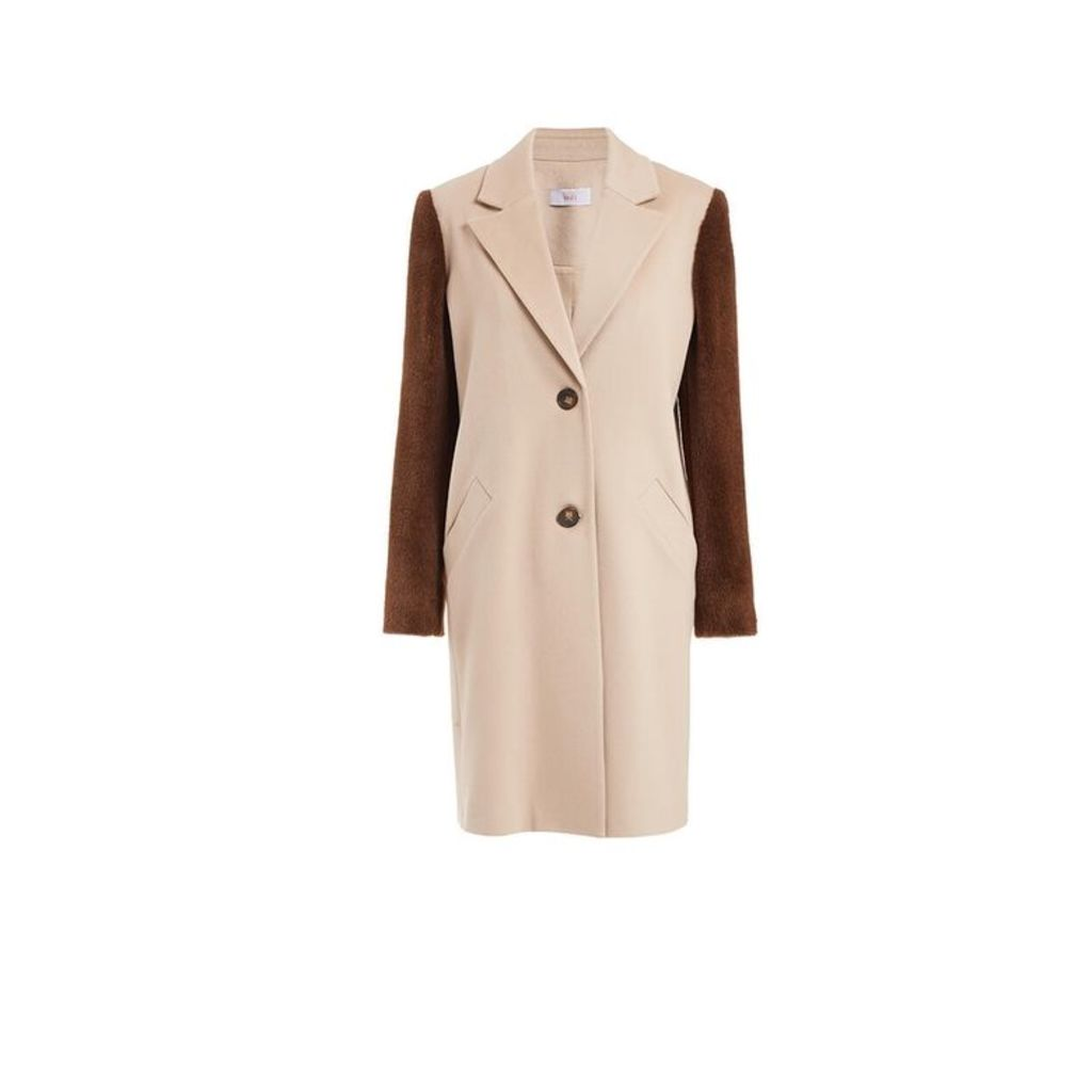 WtR Serge Beige Wool Alpaca Coat