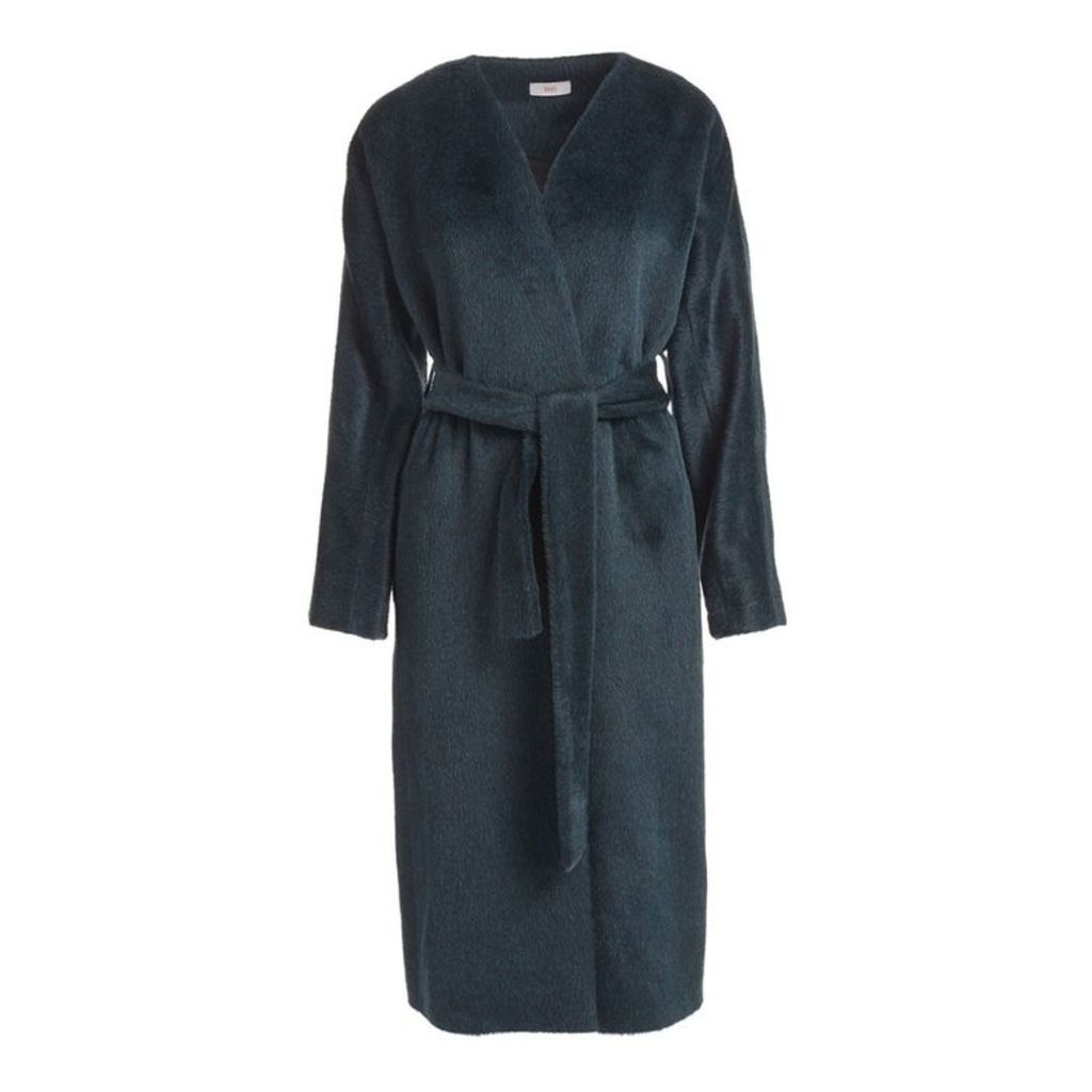 WtR Chaminade Green Alpaca Blend Wrap Coat