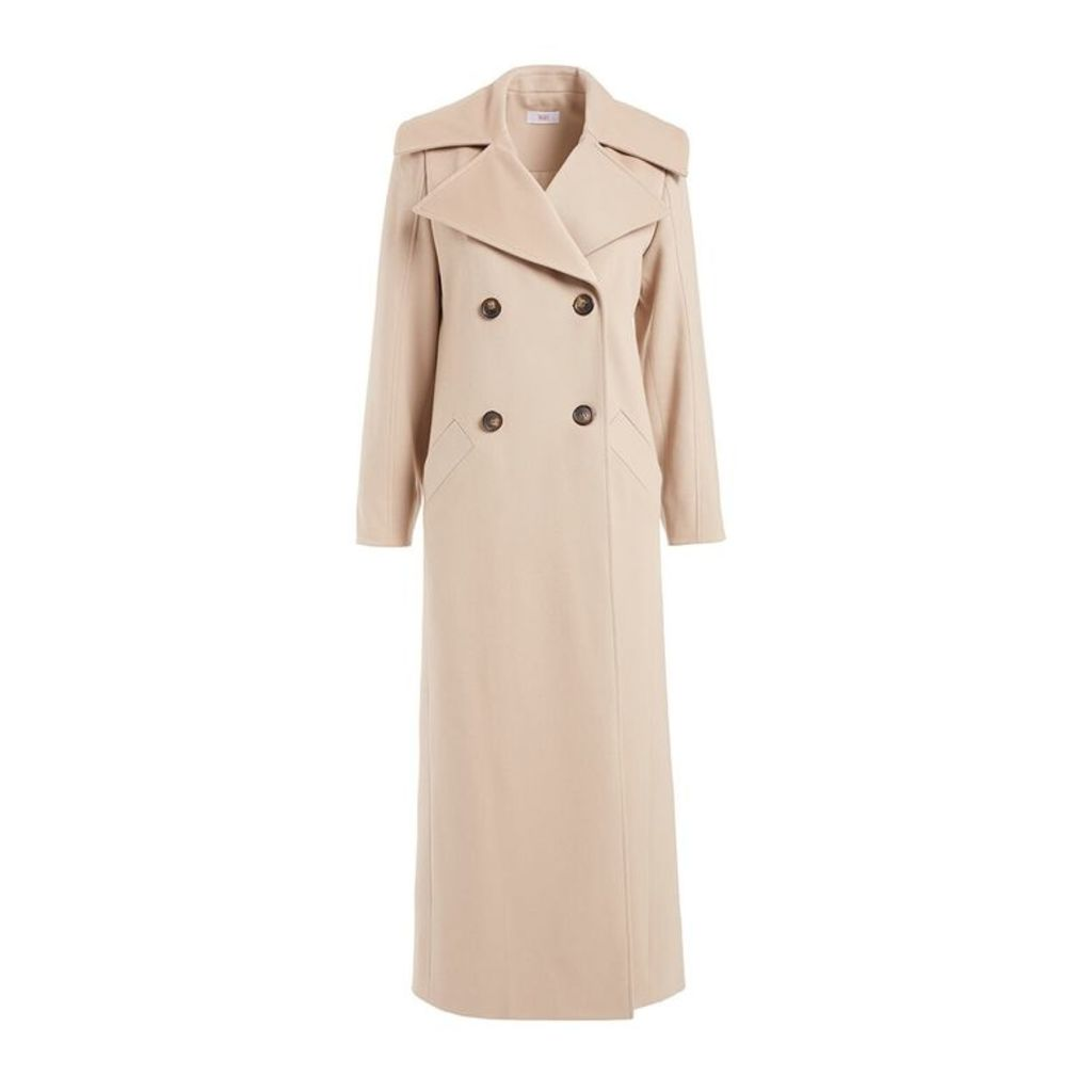WtR Viardot Beige Long Wool Coat