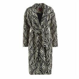 WtR Sela Monochrome Jacquard Wool Blend Coat
