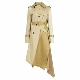 MONSE Taupe Twist-effect Twill Trench Coat