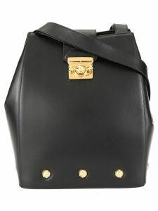 Salvatore Ferragamo Pre-Owned studded bucket bag - Black