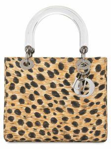 Christian Dior Pre-Owned Lady Dior cheetah-print 2way bag - Brown