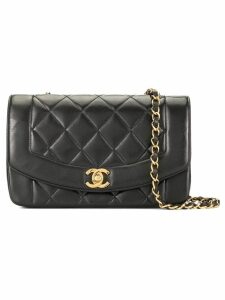 Chanel Pre-Owned Diana quilted chain shoulder bag - Black