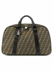 Fendi Pre-Owned Zucca pattern travel hand bag - Brown