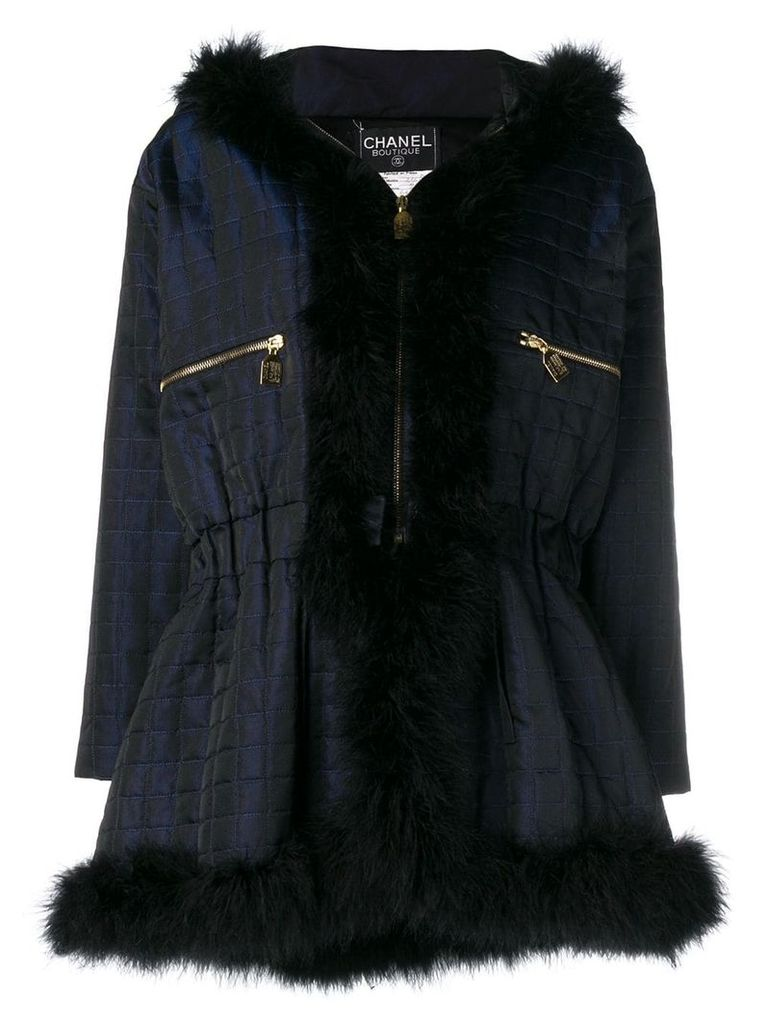 Chanel Vintage 1990's hooded coat - Blue
