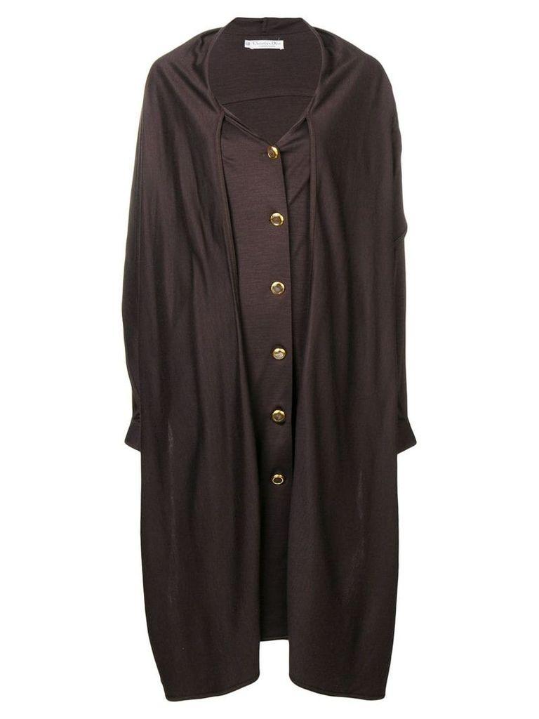Christian Dior Vintage 1980's midi coat - Brown