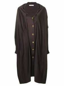 Christian Dior Pre-Owned 1980's midi coat - Brown