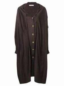 Christian Dior Pre-Owned 1980's midi coat - Brown