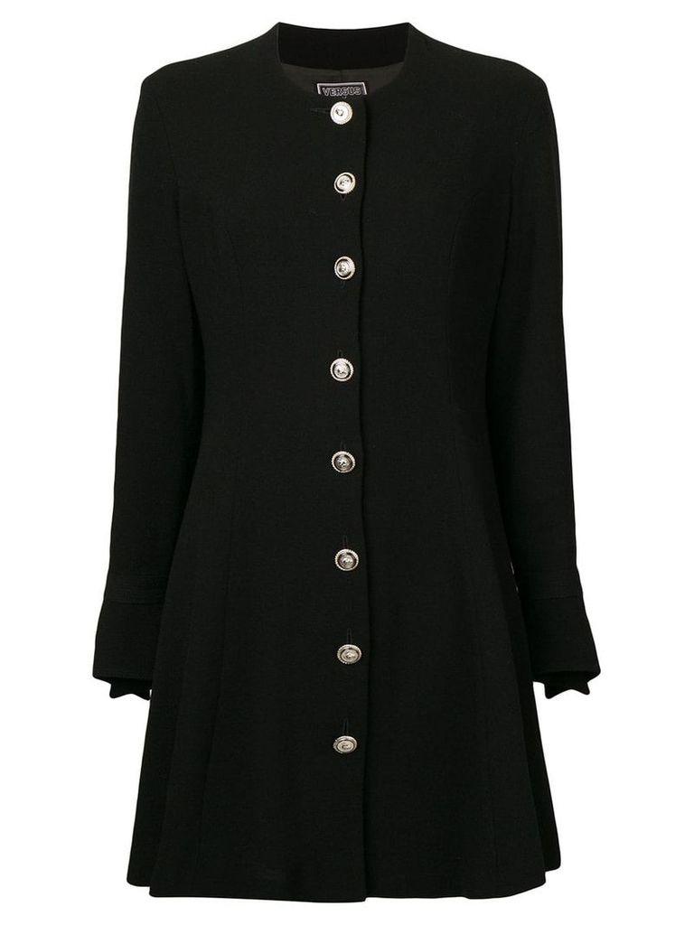 Versus Vintage 1990's long-sleeved dress - Black