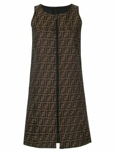Fendi Pre-Owned reversible shift dress - Brown