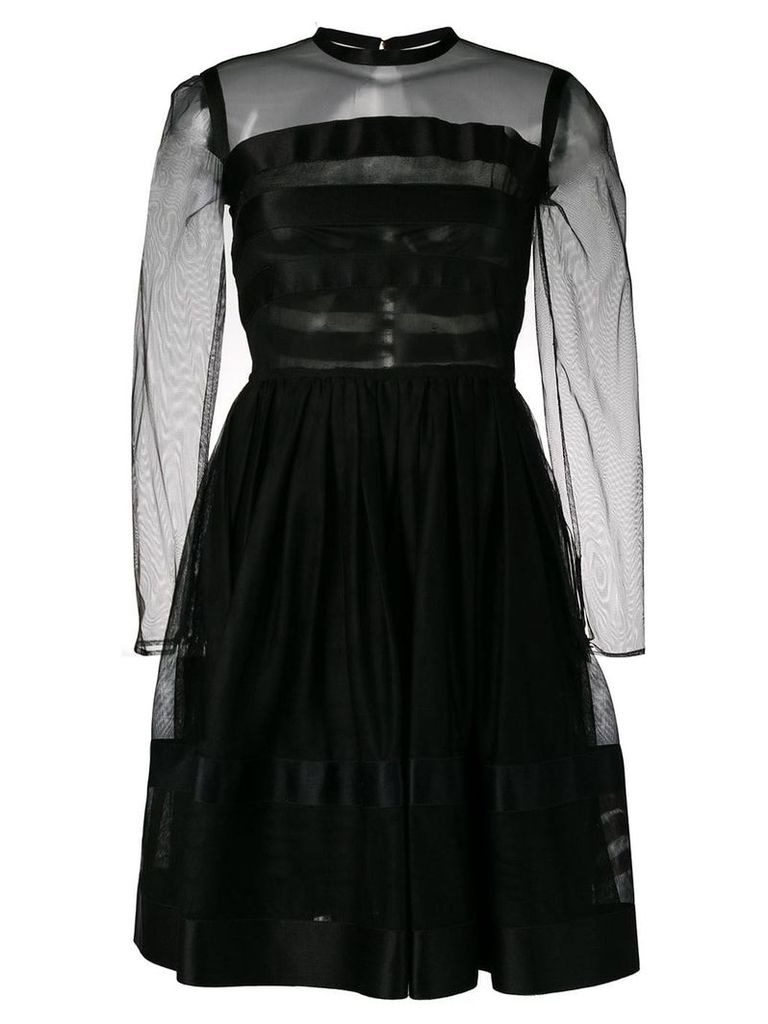 Chanel Vintage 1990's fit-and-flare dress - Black