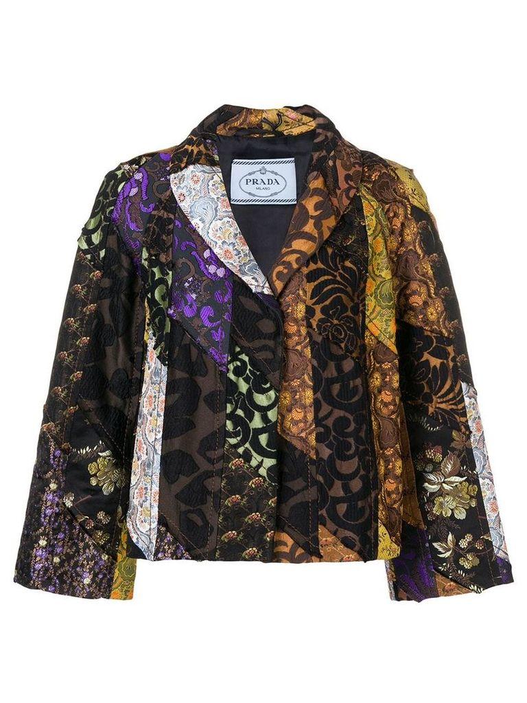 Prada Vintage 1990's patchwork jacket - Black