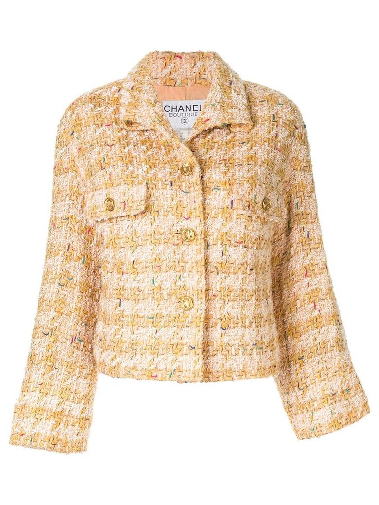 Chanel Vintage checked jacket - Orange