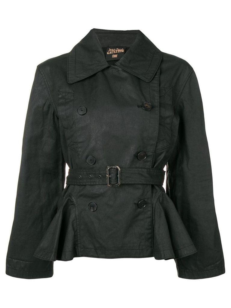 Jean Paul Gaultier Vintage 1990's belted jacket - Black