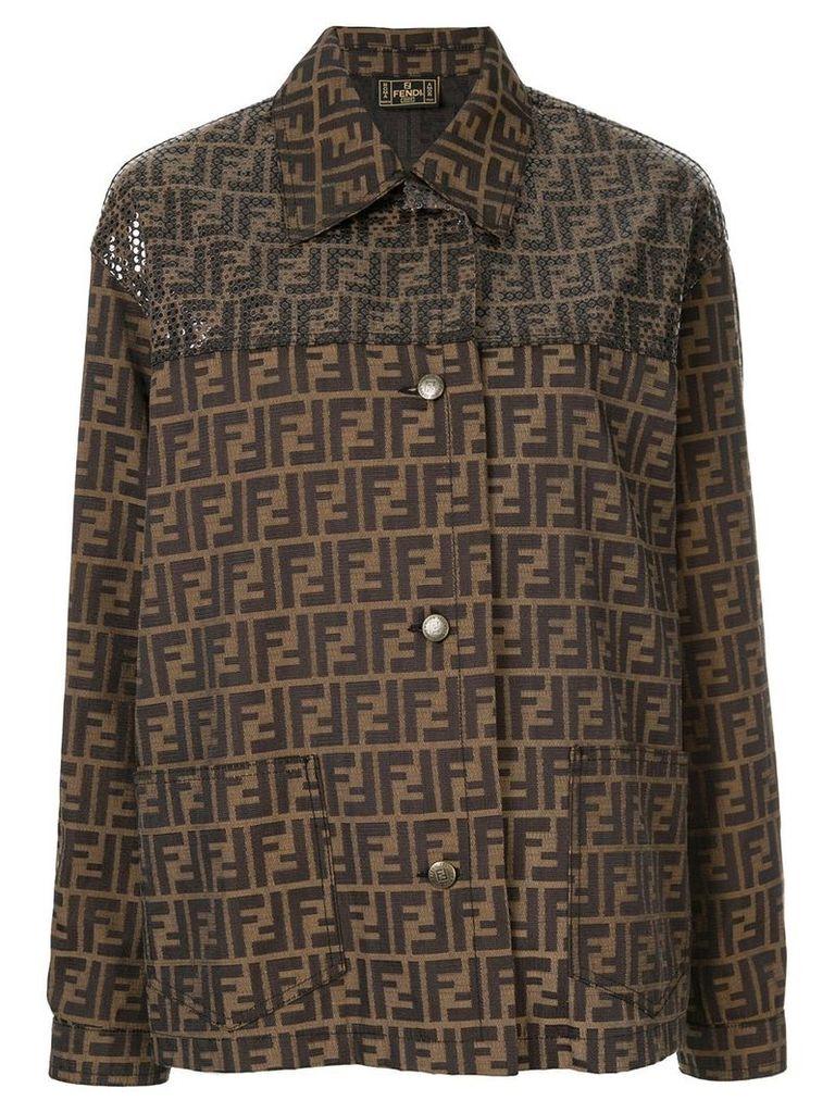 Fendi Vintage FF logo jacket - Brown