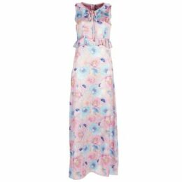 Smash  ISABELA  women's Long Dress in Pink