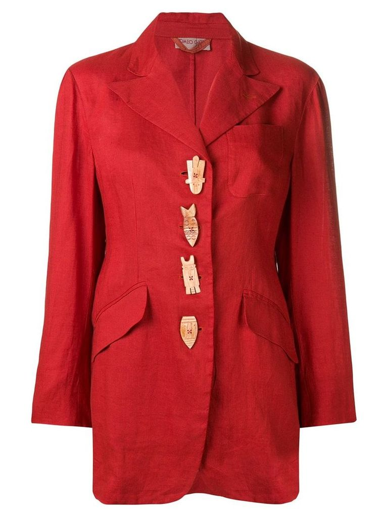 Romeo Gigli Pre-Owned 1990's embellished blazer - Red