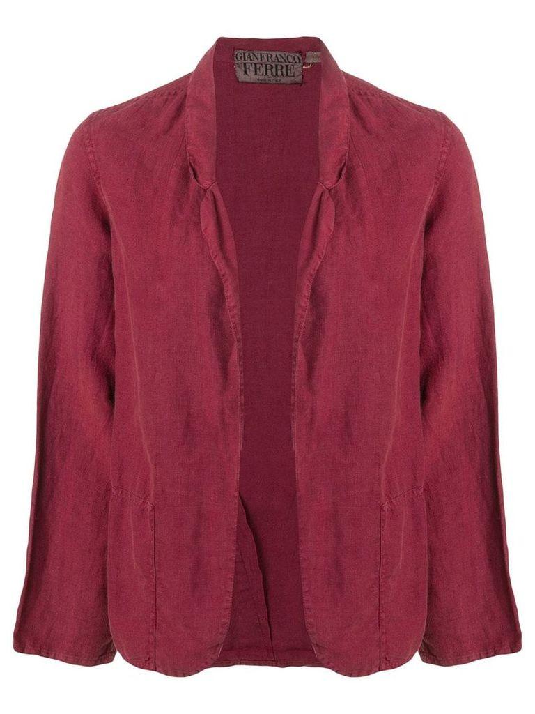 Gianfranco Ferre Vintage 1990's open front blazer - Red
