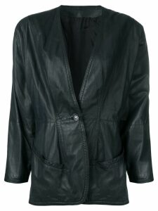 Versace Pre-Owned 1980's leather jacket - Green