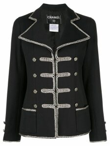 Chanel Pre-Owned Long Sleeve Military jacket - Black