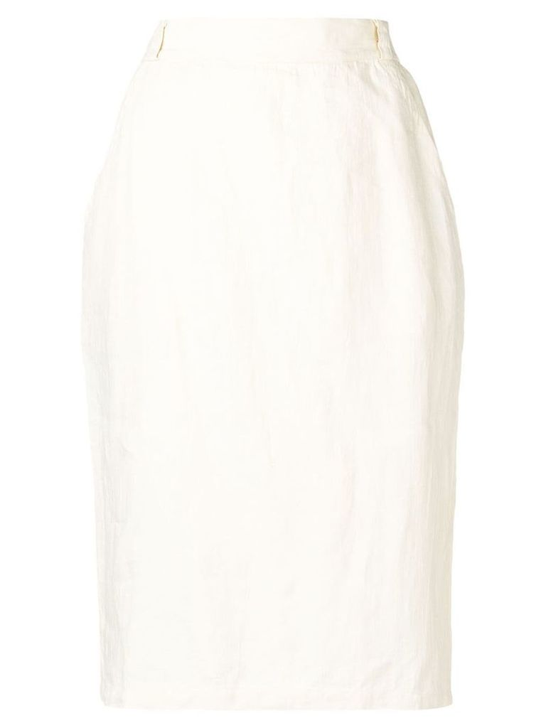 Versace Pre-Owned 1980's pencil skirt - White