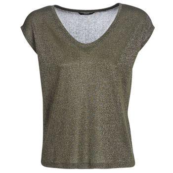 Only  ONLSILVERY  women's T shirt in Green