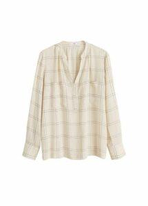 Lightweight check blouse