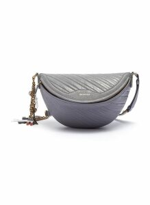 'Souvenir XS' charm logo embossed leather bum bag