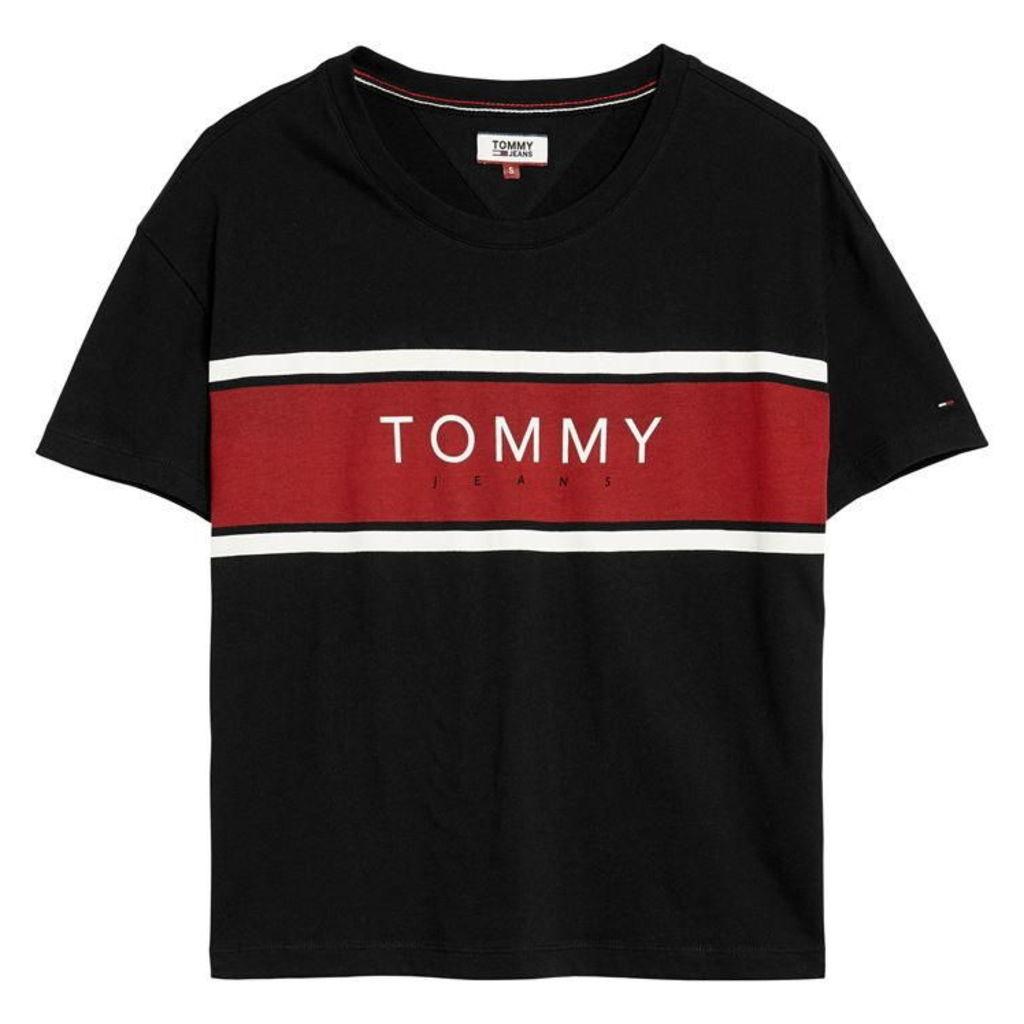 Tommy Jeans Stripe Logo T Shirt