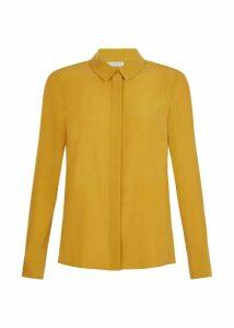 Odette Silk Shirt Mustard 18