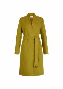 Elisa Wool Blend Coat Ochre