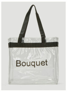Kingsley Ifill Bouquet Tote Bag in Clear size One Size