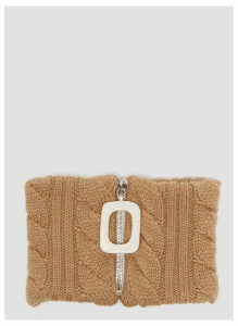 JW Anderson Cable Knit Neckband in Brown size One Size