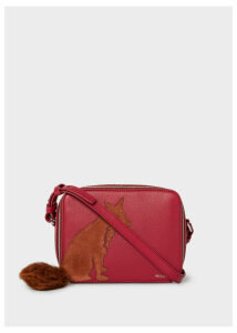Women's Brick Red Leather 'Fox' Cross-Body Bag