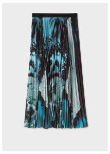 Women's 'Paul's Photo' Print Pleated Skirt
