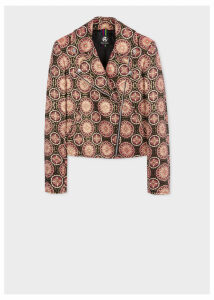 Women's 'Floral Jacquard' Biker Jacket