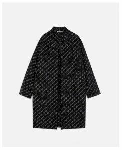 Stella McCartney Black Kailey Coat, Women's, Size 12