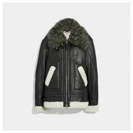 Coach Oversized Shearling Aviator