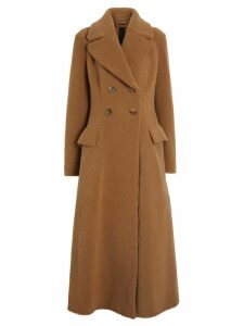 Burberry Shearling Tailored Coat - Brown