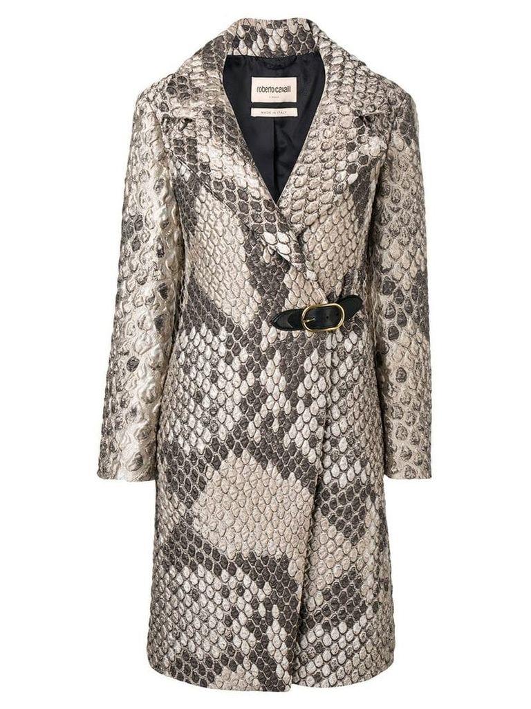 Roberto Cavalli double breasted coat - Neutrals