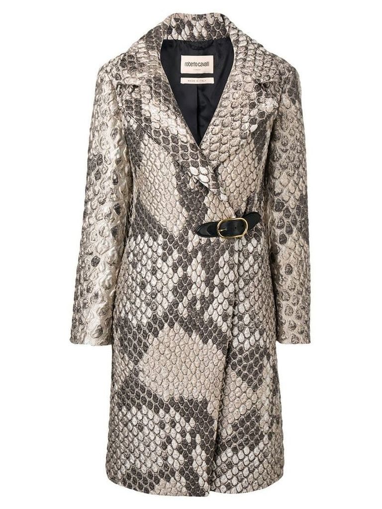 Roberto Cavalli double breasted coat - Neutrals