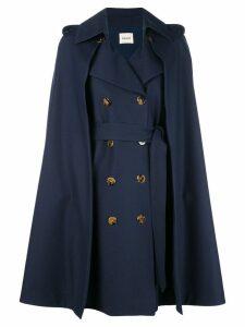 Khaite cape double-breasted coat - Blue