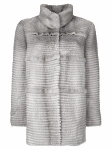 Liska panelled mink fur coat - Grey