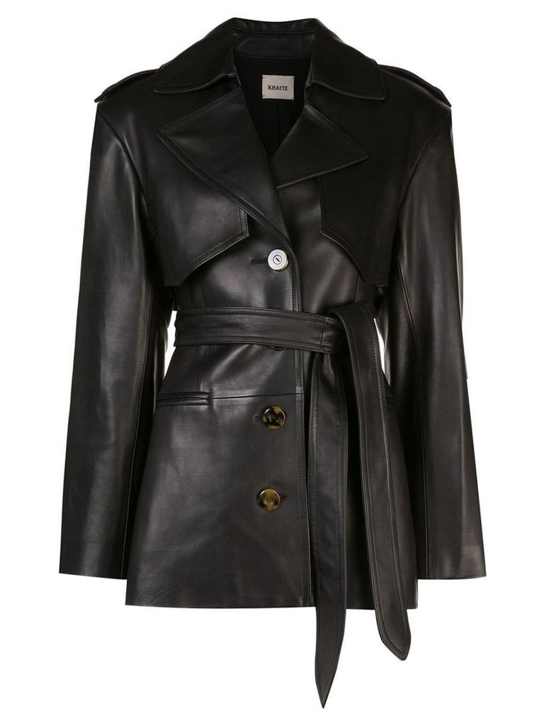 Khaite belted trench coat - Black