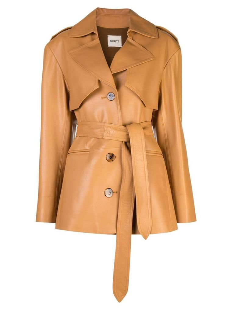 Khaite belted trench coat - Neutrals