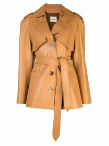 Khaite belted trench coat - Neutrals