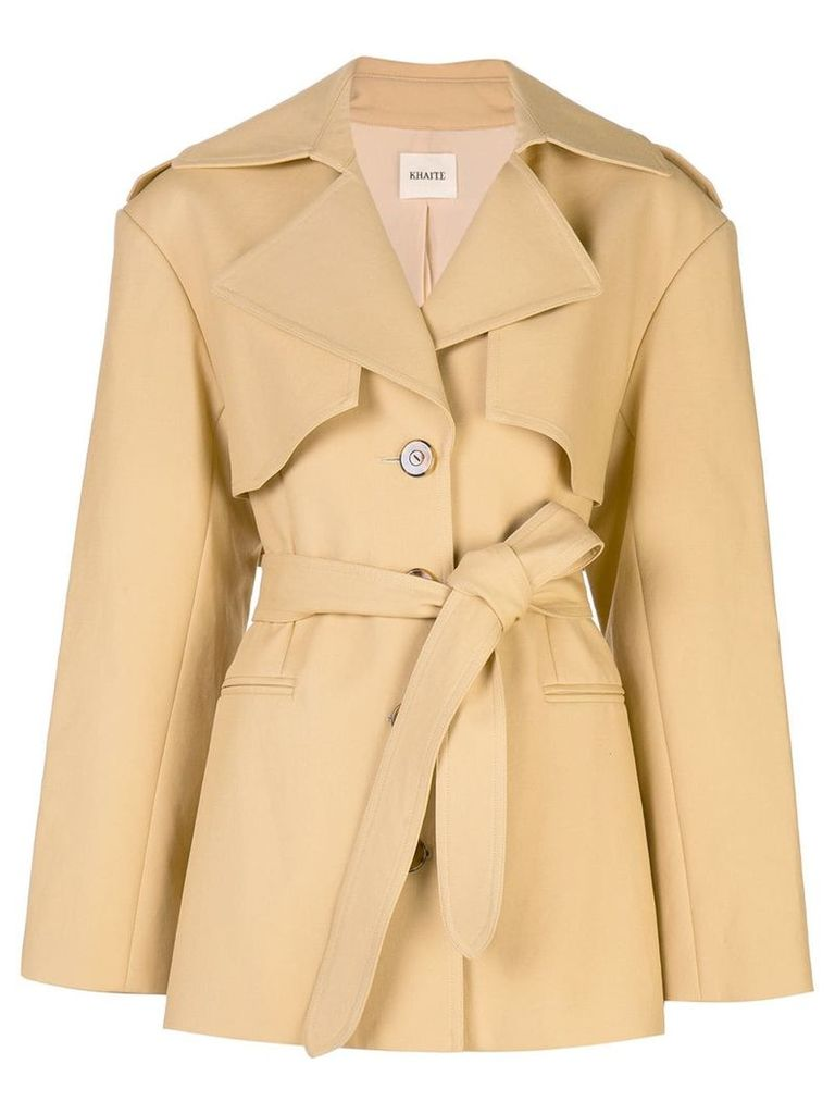 Khaite belted trench coat - Orange