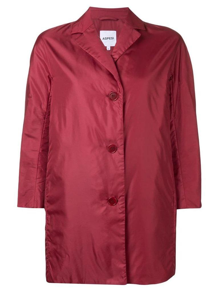 Aspesi single-breasted coat - Red